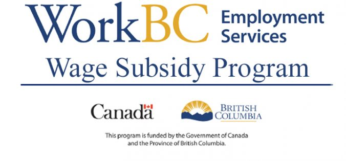 WorkBC offers Wage Subsidies for new employees
